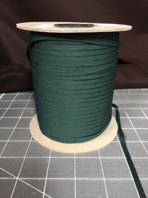 Forest Green Polyester Middy Braid 288 yards at 3/16inch
